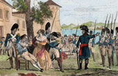 War in the Vend�e - Execution of general d'Elb�e (1794)