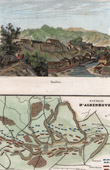 View of Bouillon (Belgium) - French Revolutionary Wars - Battle of Aldenhoven (Germany) - Map