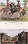 Austrian Army - Dragoons - View of Namur (Wallonia - Belgium)