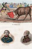 Stierkampf - Torero - Matador - Porträts - De Prez de Crassier  (1733-1803) - Joseph Servan (1741-1808)