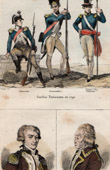 French Fashion - Military Uniform - National Guard - 1792 - Portraits - Lafayette (1757-1834) - Luckner (1722-1794)