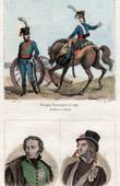 French Army - Artillery - 1792 - Portraits - Charles de Bonchamps (1760-1793) - Henri de La Rochejaquelein (1772-1794)