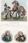 French Army - Gendarmerie - Cuirassier - 1793 - Portraits - Valence (1757-1822) - Danton (1759-1794)