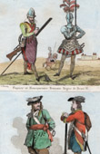 French Costume - French Fashion - Military Uniform - Musketeer - Henry IV - Officer and soldier - Louis XIV of France
