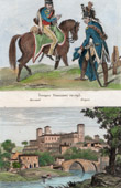 French Army - Cavalry - Hussars and Dragoons - 1793 - View of Villa Garenne-Valentin in Clisson (Loire-Atlantique - France)