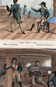 Uniforme militare - Esercito - Marina - 1793 - Artiglieria - Batteria