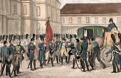 Napoleonic Wars - Departure of Napoleon for Saint Helena - Farewell at Fontainebleau (1814)
