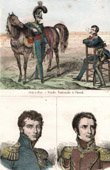 French Fashion - Military Uniform - National Guard (1814-1827) - Portraits - Montholon (1783-1853) - Gourgaud (1783-1852)