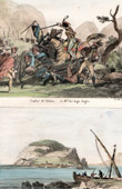 Spanish Expedition (1823) - Fight - Battle of Vilches - Soldier Auges - View of Santoña
