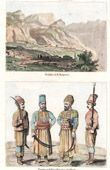 View of Delphi and Mount Parnassus (Greece) - Turkish Costume - Turkish Fashion - Uniform - Artillery