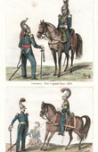 French Costume - Military Uniform (1833) - Cuirassier - Carabinier
