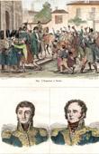 Stich von Napoleon Bonaparte zu Reims (1814) - Frankreich Expedition - Porträts - Barbanègre (1772-1830) - Berckheim (1775-1819)