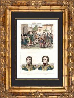 Napoleon Bonaparte zu Reims (1814) - Frankreich Expedition - Porträts - Barbanègre (1772-1830) - Berckheim (1775-1819)