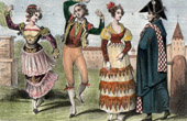 Traditional Costume - Spain - Fandango - Bourgeoisie
