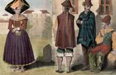 Traditionelle Kleidung - Chile - Santiago de Chile (19. Jahrhundert - XIX. Jahrhundert)