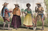Traditional Costume - Chile - Santiago de Chile - Peru - Negro Slave in Brazil
