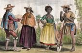 Traditionelle Kleidung - Chile - Santiago de Chile - Peru - Negersklave in Brasilien