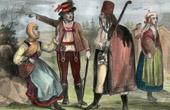 Traditionelle Kleidung - Ungarn - Comita de Neutra - Slawen