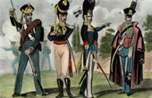 Costumes Militaires Allemands - Uniforme - Allemagne - Hussard de la Mort - Infanterie de Hambourg - Grenadier de Mecklembourg