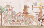 Battle against the Negros in Nubia - Ancient Egypt - Champollion