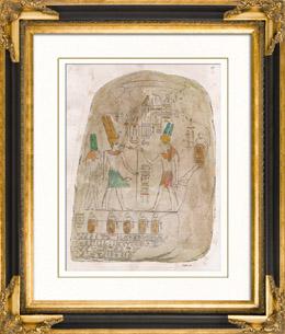 Altes Ägypten - Stele - Nubien - Hieroglyphen