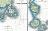 Antique map - Newfoundland - Saint Pierre and Miquelon