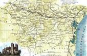 Antique map - France - Aude (Carcassonne - Narbonne)