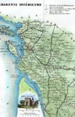 Map of France - Charente-Maritime - Charente-Inf�rieure (La Rochelle - Saintes)