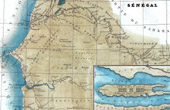 Antique Map of S�n�gal (Africa) - Former French colony
