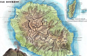 Map of France - Reunion - Ile Bourbon (Volcano)