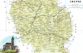 Antique map - France - Creuse (Gu�ret - Aubusson)