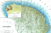 Antique map - France - French Guiana (Cayenne)