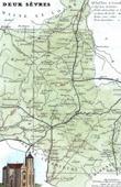 Antique map - France - Deux-S�vres (Niort - Fran�oise d'Aubign� - Marquise de Maintenon)