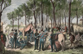 Camping of the Cossacks and the English Troops on the Champs-Elysées in Paris (1815)
