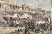 July Revolution of 1830 - Storming of Louvre - Paris