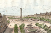 Monuments of Paris - The place de la Bastille - Site of its old Fortifications and its Fortress in 1789