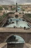Monuments of Paris -  Basin - Bassin de la Bastille
