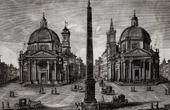 View of Rome - Piazza del Popolo - Obelisco Flaminio (Italy)