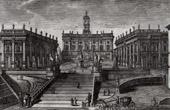 View of Rome - Piazza del Campidoglio - Palazzo del Museo - Palazzo del Senatore (Italy)