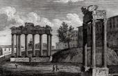 View of Rome - Capitoline - Temple of Jupiter - Tempio di Giove Tonante - Tempio della Fortuna (Italy)