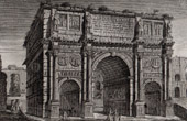 View of Rome - Arch of Constantine - Triumphal Arch (Italy)