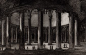 View of Rome - Caelian Hill - Celio - Roman Temple - Tempio di Claudio (Italy)