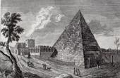 Vue de Rome - Pyramide de Caius Cestius (Italie)