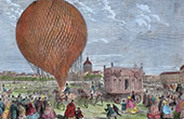 Balloon in Champ de Mars - Paris (1868)
