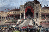 Distribution of the Eagles by the Prince Louis Napoleon Bonaparte on the Champ-de-Mars in Paris (May 10, 1852)