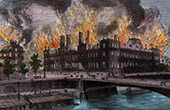 View of Paris - H�tel de Ville - Paris City Hall's Fire (1871) - Paris Commune