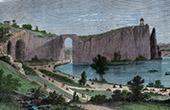 View of Paris - Parc des Buttes Chaumont - Park - The Temple of Sybil (France)