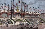 Ippodromo ad 1835  - Corse - Cavalli da Corsa - Chevaux de Courses