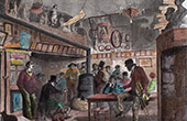 Monuments of Paris - Tavern - Le Lapin Blanc - Rue aux F�ves (1859)