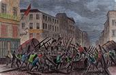 Barricade - Faubourg du Temple - Paris - February 8th 1870